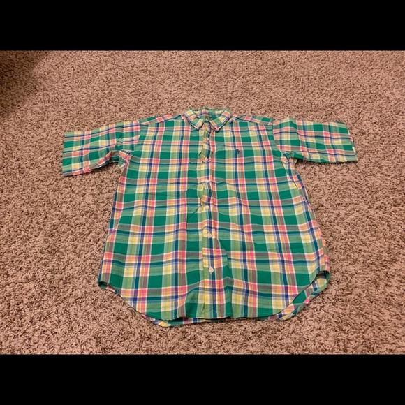 Polo by Ralph Lauren Other - Polo Ralph Lauren Boys Green Plaid Button Down LG